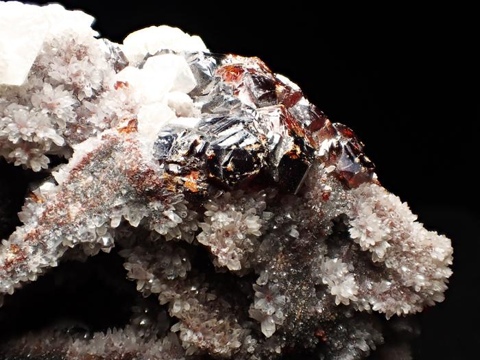 中国産スファレライト、クォーツ&カルサイト (Sphalerite, Quartz & Calcite / China)-photo10