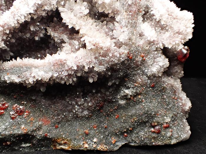 中国産スファレライト、クォーツ&カルサイト (Sphalerite, Quartz & Calcite / China)-photo11