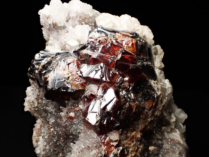 中国産スファレライト、クォーツ&カルサイト (Sphalerite, Quartz & Calcite / China)-photo13