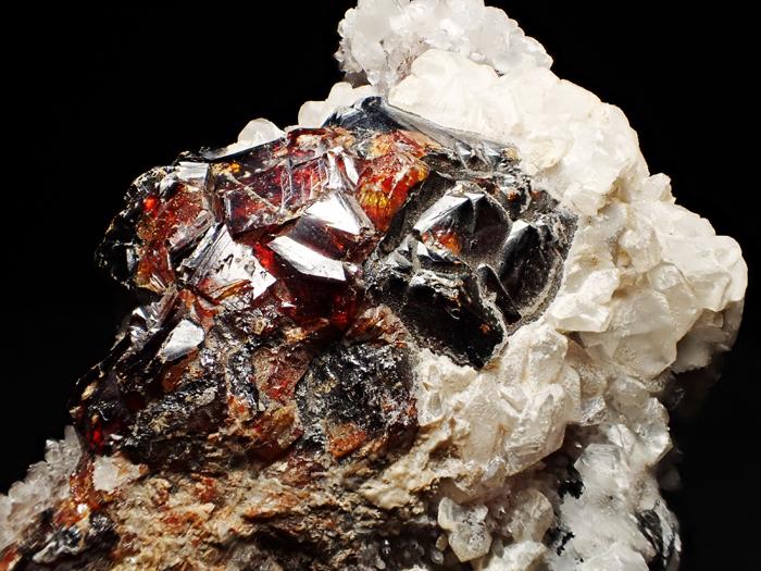 中国産スファレライト、クォーツ&カルサイト (Sphalerite, Quartz & Calcite / China)-photo14