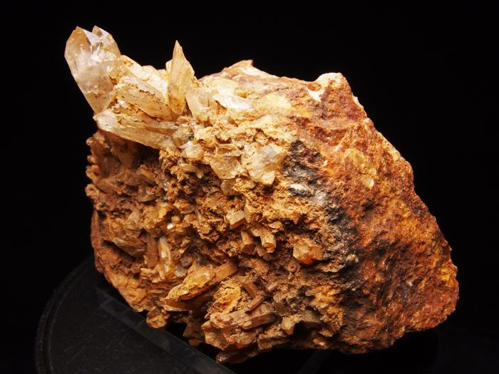 岐阜県荘川町産 松茸水晶&黄鉄鉱 (Scepter Quartz & Pyrite/ Japan)-photo1
