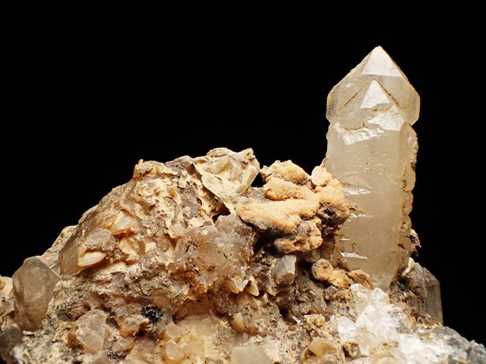 奈良県天川村産 水晶、珪灰鉄鉱&方解石 (Quartz, Ilvaite & Calcite / Japan)-photo7