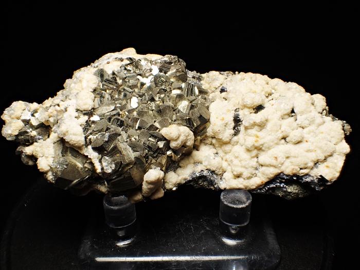 コソボ産パイライト、シデライト&カルサイト (Pyrite, Siderite & Calcite / Kosovo)-photo0