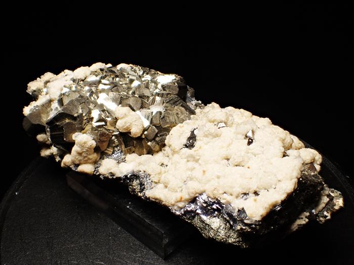 コソボ産パイライト、シデライト&カルサイト (Pyrite, Siderite & Calcite / Kosovo)-photo7