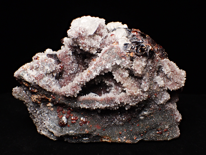 中国産スファレライト、クォーツ&カルサイト (Sphalerite, Quartz & Calcite / China)-photo0