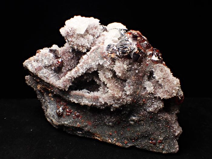 中国産スファレライト、クォーツ&カルサイト (Sphalerite, Quartz & Calcite / China)-photo1