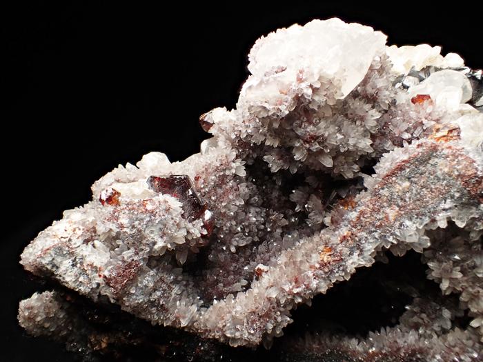 中国産スファレライト、クォーツ&カルサイト (Sphalerite, Quartz & Calcite / China)-photo8
