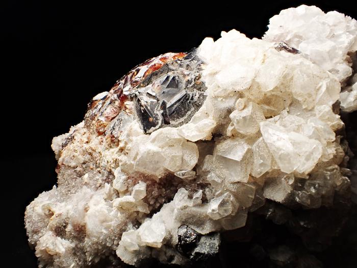 中国産スファレライト、クォーツ&カルサイト (Sphalerite, Quartz & Calcite / China)-photo16