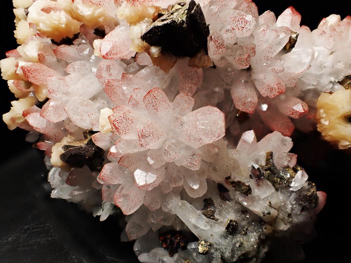 中国産ヘマタイトクォーツ、ドロマイト&キャルコパイライト (Hematite Quartz, Dolomite & Chalcopyrite / China)-photo13
