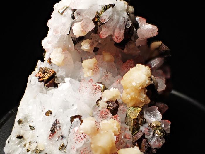 中国産ヘマタイトクォーツ、ドロマイト&キャルコパイライト (Hematite Quartz, Dolomite & Chalcopyrite / China)-photo17