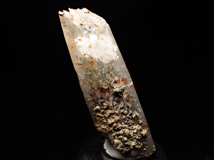 大分県尾平鉱山産 水晶、クーク石&透閃石 <まりも水晶> (Quartz, Cookeite & Tremolite / Japan)-photo0