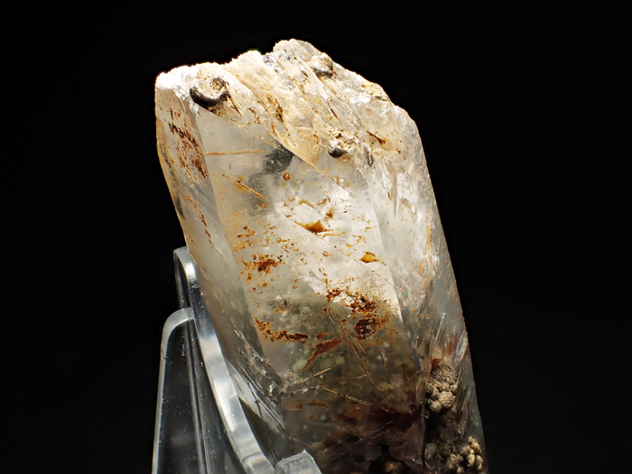 大分県尾平鉱山産 水晶、クーク石&透閃石 <まりも水晶> (Quartz, Cookeite & Tremolite / Japan)-photo12