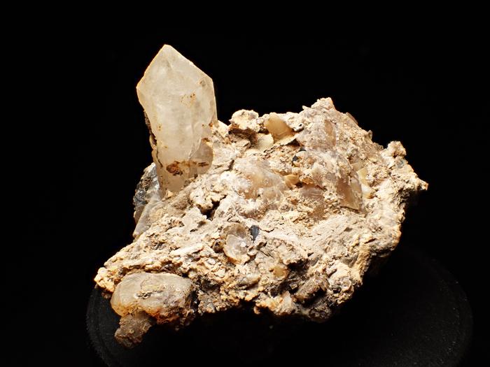 奈良県天川村産 水晶、珪灰鉄鉱&方解石 (Quartz, Ilvaite & Calcite / Japan)-photo3