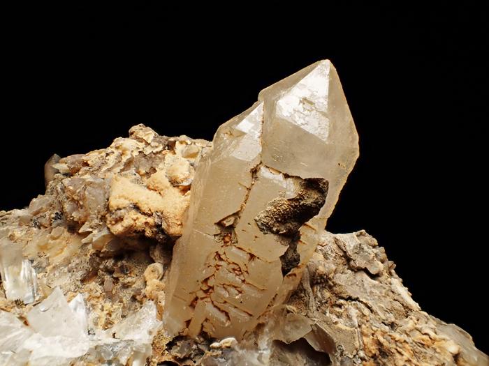 奈良県天川村産 水晶、珪灰鉄鉱&方解石 (Quartz, Ilvaite & Calcite / Japan)-photo9