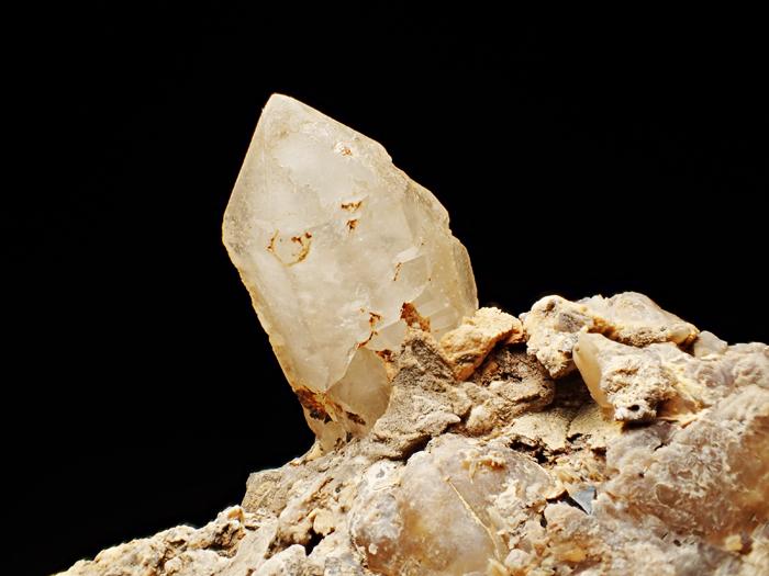 奈良県天川村産 水晶、珪灰鉄鉱&方解石 (Quartz, Ilvaite & Calcite / Japan)-photo11