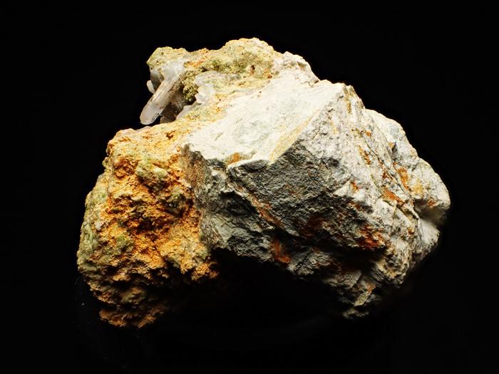 兵庫県明延鉱山産 水晶&緑簾石 (Quartz & Epidote / Japan)-photo2