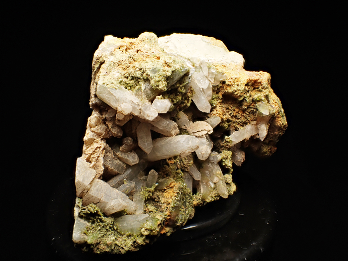 兵庫県明延鉱山産 水晶&緑簾石 (Quartz & Epidote / Japan)-photo5