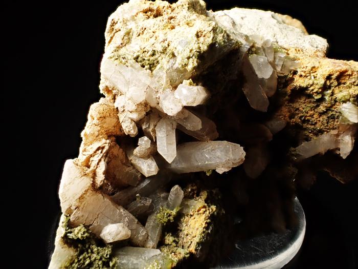 兵庫県明延鉱山産 水晶&緑簾石 (Quartz & Epidote / Japan)-photo6