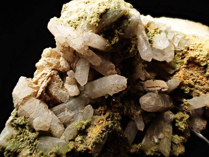 兵庫県明延鉱山産 水晶&緑簾石 (Quartz & Epidote / Japan)-photo7