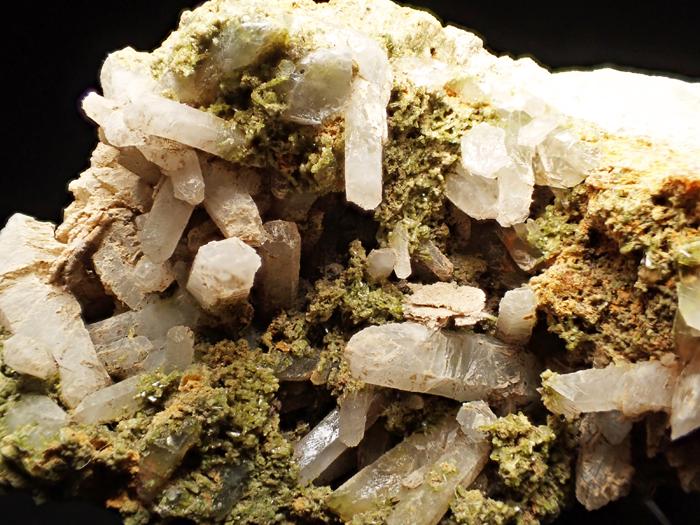 兵庫県明延鉱山産 水晶&緑簾石 (Quartz & Epidote / Japan)-photo8