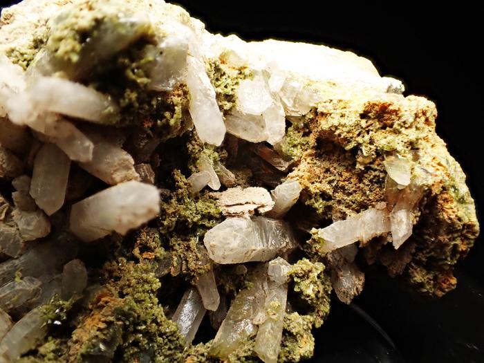 兵庫県明延鉱山産 水晶&緑簾石 (Quartz & Epidote / Japan)-photo9