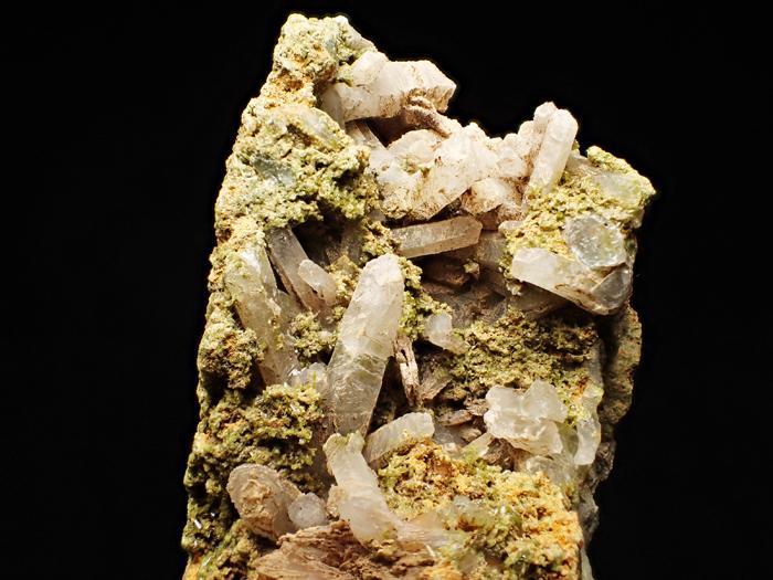 兵庫県明延鉱山産 水晶&緑簾石 (Quartz & Epidote / Japan)-photo11