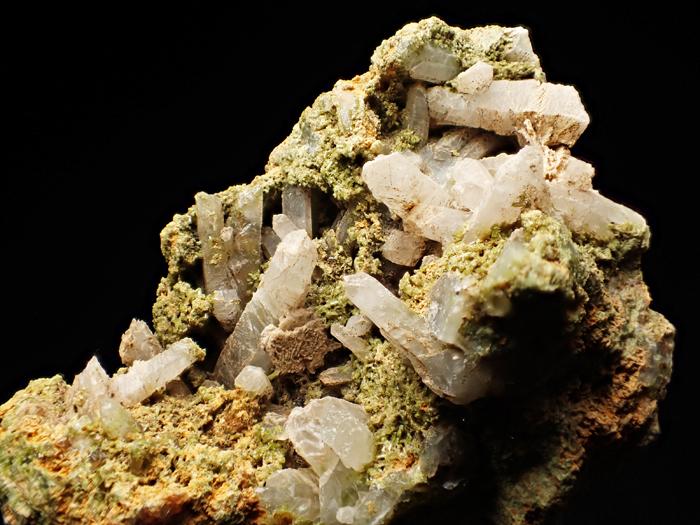 兵庫県明延鉱山産 水晶&緑簾石 (Quartz & Epidote / Japan)-photo13