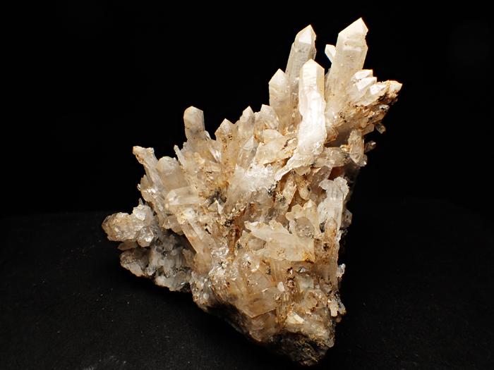 奈良県天川村産 水晶、珪灰鉄鉱&方解石 (Quartz, Ilvaite & Calcite / Japan)-photo1