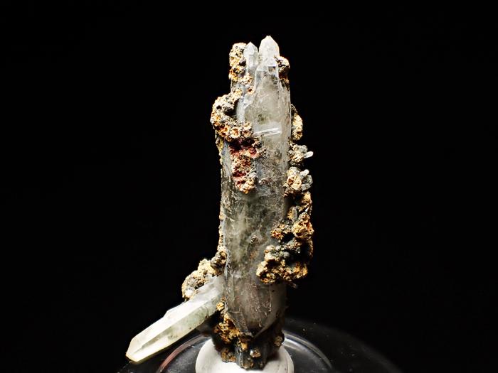 長野県甲武信鉱山産 水晶、楔石&緑泥石 (Quartz, Titanite & Chlorite / Japan)-photo0