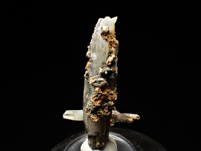 長野県甲武信鉱山産 水晶、楔石&緑泥石 (Quartz, Titanite & Chlorite / Japan)-photo1