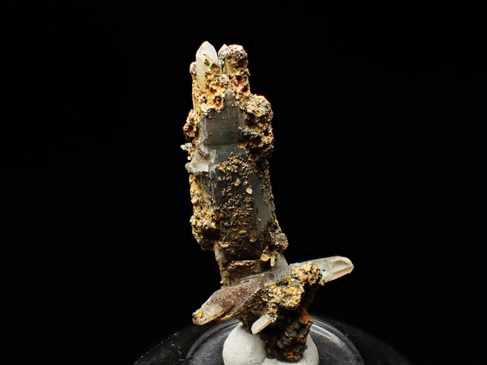 長野県甲武信鉱山産 水晶、楔石&緑泥石 (Quartz, Titanite & Chlorite / Japan)-photo3