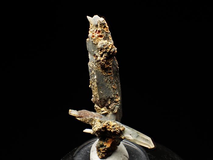 長野県甲武信鉱山産 水晶、楔石&緑泥石 (Quartz, Titanite & Chlorite / Japan)-photo4