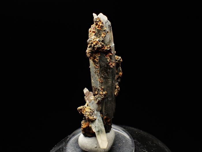 長野県甲武信鉱山産 水晶、楔石&緑泥石 (Quartz, Titanite & Chlorite / Japan)-photo5