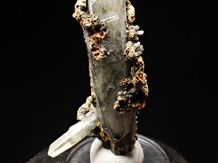 長野県甲武信鉱山産 水晶、楔石&緑泥石 (Quartz, Titanite & Chlorite / Japan)-photo12