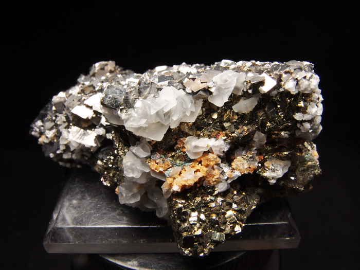 コソボ産アーセノパイライト、シデライト&カルサイト (Arsenopyrite, Siderite & Calcite / Kosovo)-photo4