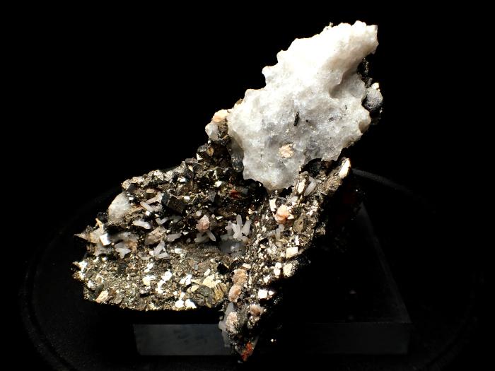 コソボ産パイライト <ピロータイト仮晶>&アーセノパイライト (Pyrite Pseudomorph after Pyrrhotite & Arsenopyrite / Kosovo)-photo2