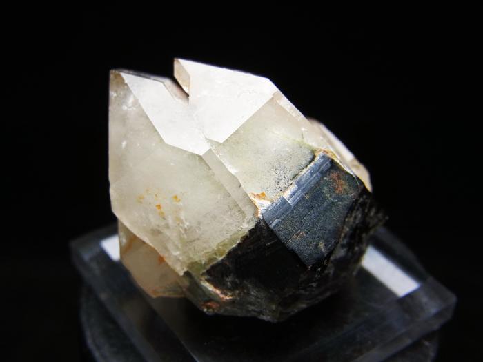 岐阜県鳶岩巣産 黒水晶&玉滴石 (Morion & Hyalite / Japan)-photo5