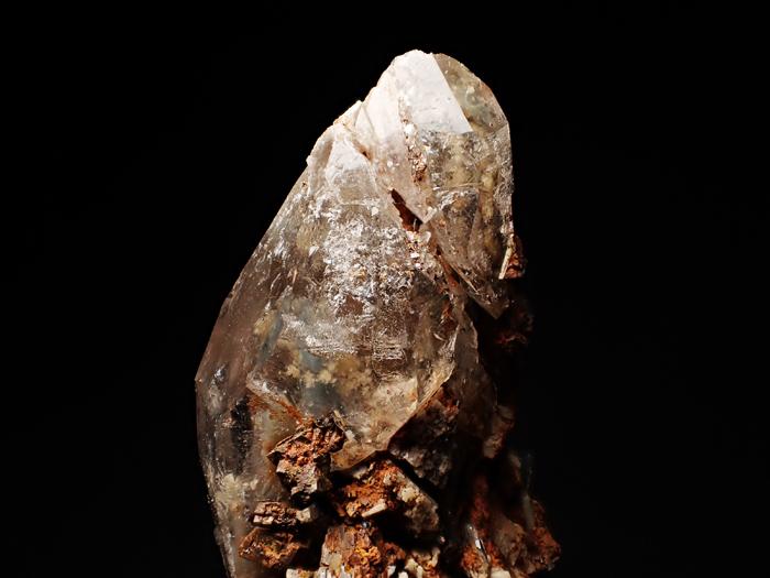 マラウイ産スモーキークォーツ、リーベカイト&シデライト仮晶 (Smoky Quartz, Riebeckite & Goethite after Siderite / Malawi)-photo6