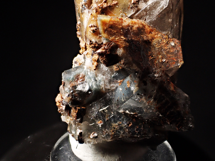 マラウイ産スモーキークォーツ、リーベカイト&シデライト仮晶 (Smoky Quartz, Riebeckite & Goethite after Siderite / Malawi)-photo20