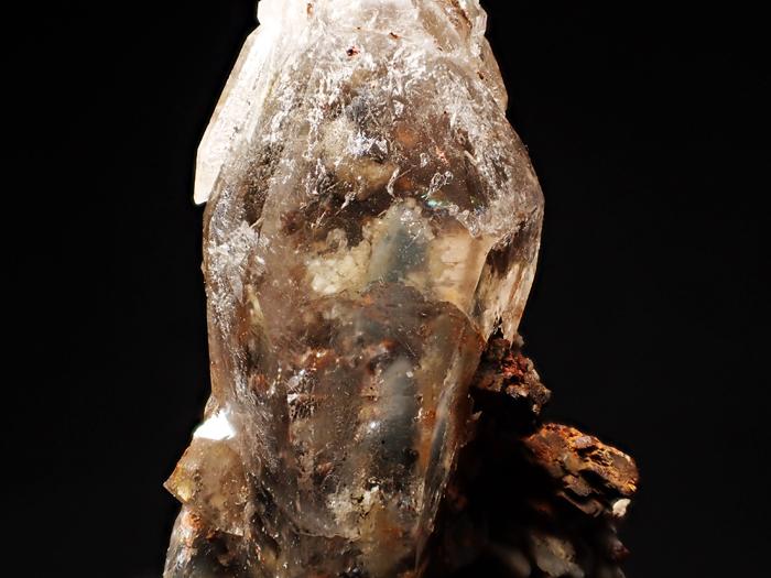 マラウイ産スモーキークォーツ、リーベカイト&シデライト仮晶 (Smoky Quartz, Riebeckite & Goethite after Siderite / Malawi)-photo21