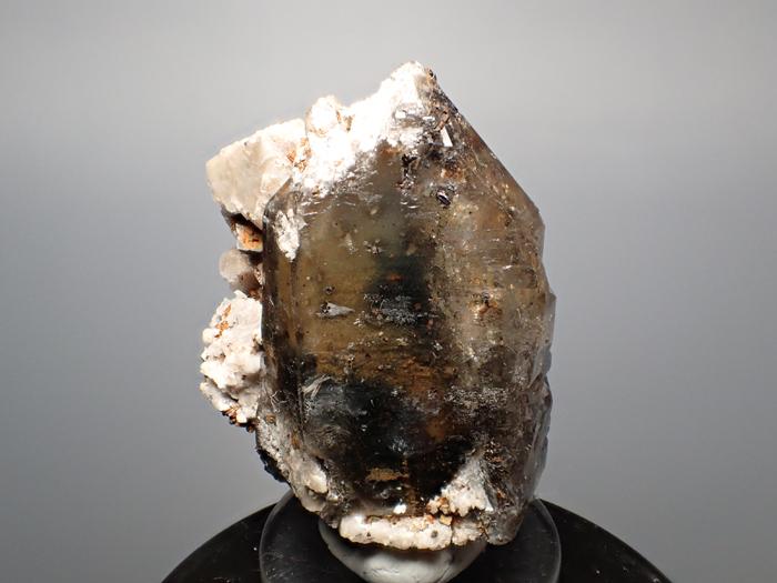 マラウイ産スモーキークォーツ、リーベカイト&シデライト仮晶 (Smoky Quartz, Riebeckite & Goethite after Siderite / Malawi)-photo3