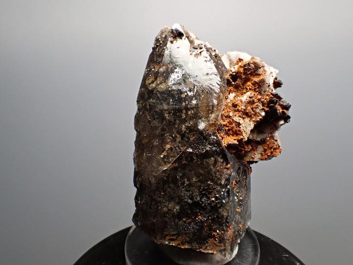 マラウイ産スモーキークォーツ、リーベカイト&シデライト仮晶 (Smoky Quartz, Riebeckite & Goethite after Siderite / Malawi)-photo5