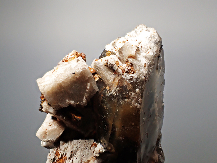 マラウイ産スモーキークォーツ、リーベカイト&シデライト仮晶 (Smoky Quartz, Riebeckite & Goethite after Siderite / Malawi)-photo7