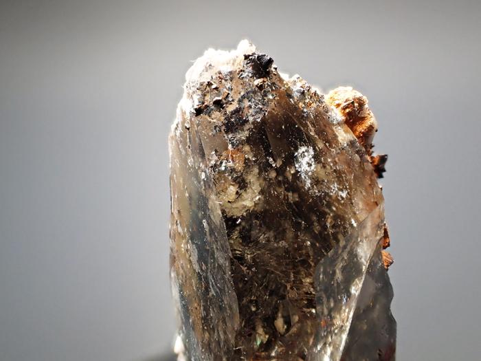 マラウイ産スモーキークォーツ、リーベカイト&シデライト仮晶 (Smoky Quartz, Riebeckite & Goethite after Siderite / Malawi)-photo9