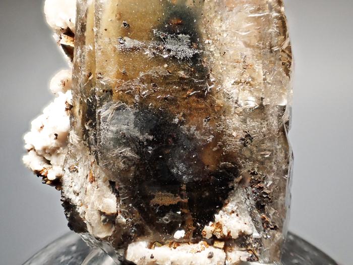 マラウイ産スモーキークォーツ、リーベカイト&シデライト仮晶 (Smoky Quartz, Riebeckite & Goethite after Siderite / Malawi)-photo13
