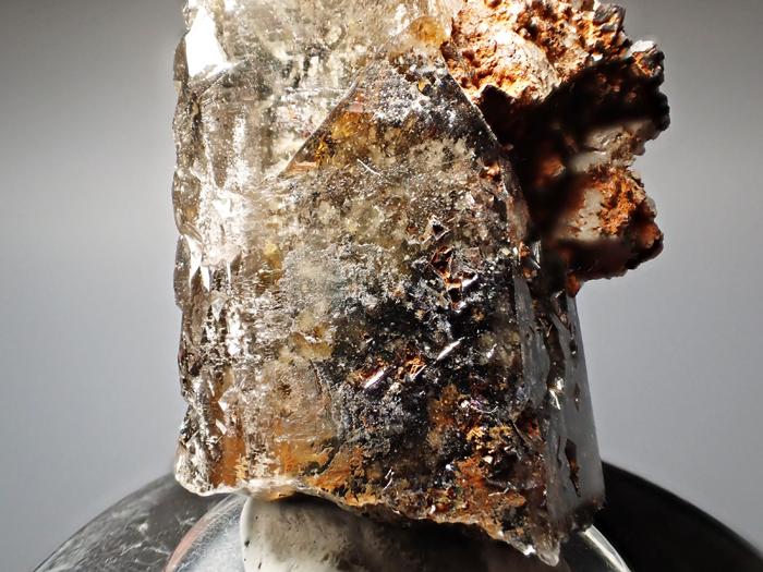 マラウイ産スモーキークォーツ、リーベカイト&シデライト仮晶 (Smoky Quartz, Riebeckite & Goethite after Siderite / Malawi)-photo15