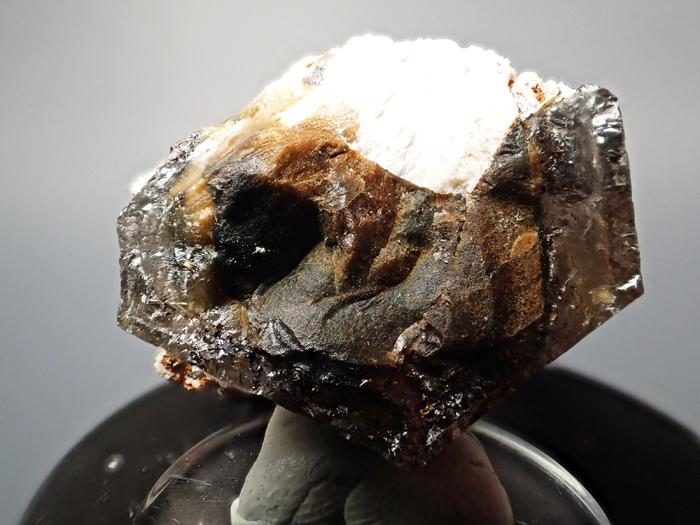 マラウイ産スモーキークォーツ、リーベカイト&シデライト仮晶 (Smoky Quartz, Riebeckite & Goethite after Siderite / Malawi)-photo16